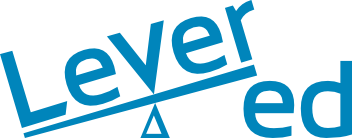 Levered learning logo blue